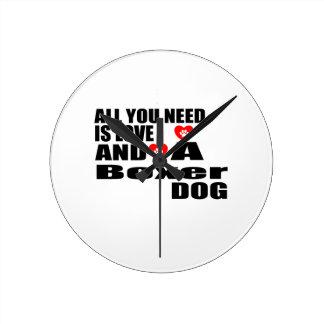 Horloge Ronde Tous vous avez besoin des conceptions de chiens de