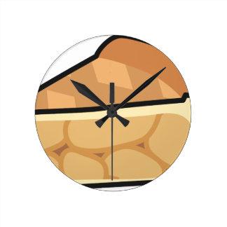 Horloge Ronde Tranche de tarte aux pommes