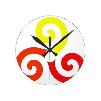 Horloge Ronde Triskélion
