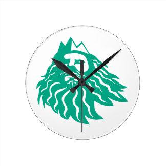 Horloge Ronde Triton recherchant rétro