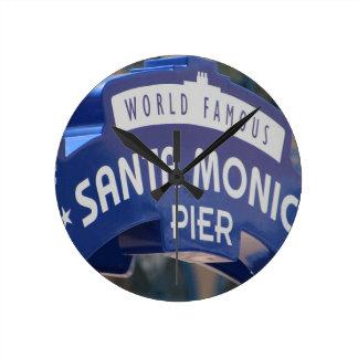 Horloge Ronde Vacances de plage de la Californie de plage de