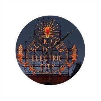 Horloge Ronde Ville électrique de Scranton