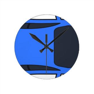 Horloge Ronde Voiture de sport bleu-foncé