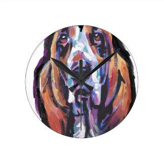Horloge Ronde Vous êtes mon coeur de Basset Hound