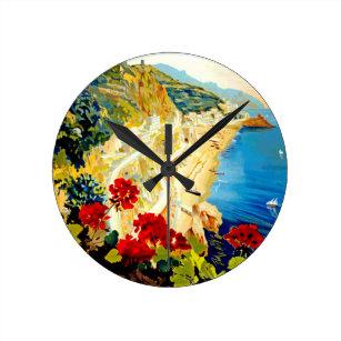Horloge Ronde Voyage vintage d'Amalfi Italie l'Europe