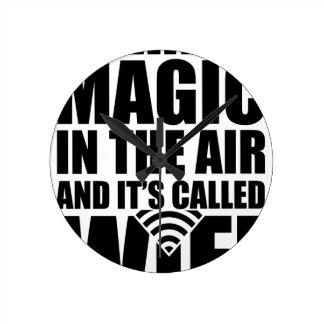 Horloge Ronde Wifi magique