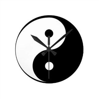 Horloge Ronde Yin et Yang
