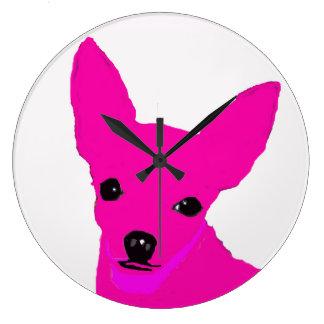 Horloge rose de chiwawa