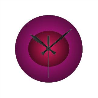 Horloge rouge de boule de conception du pourpre 3D