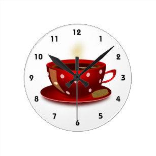 Horloges cuisine rouge murales - Horloge de cuisine rouge ...
