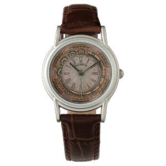 Horloge rouillée vintage d'art déco de Steampunk Montres Cadran
