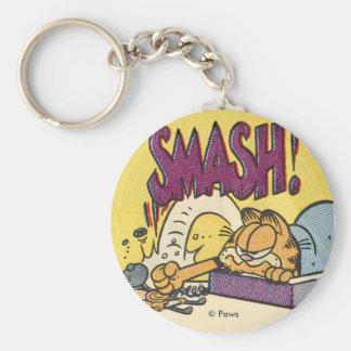 Horloge sensationnelle de Garfield, porte - clé Porte-clé Rond