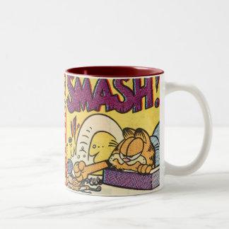 Horloge sensationnelle de Garfield, tasse