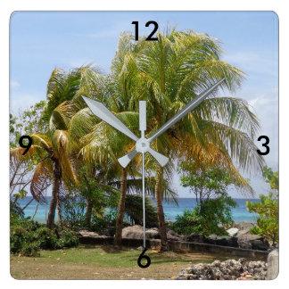 Horloge tropicale de palmier