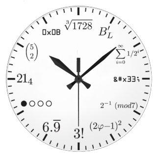 Horloge v1 de maths