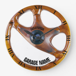 Horloge vintage de propriétaire de garage de