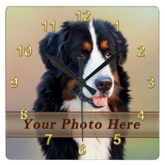 Horloges d'animal familier de PHOTO avec votre