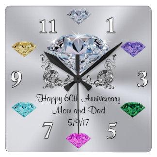 Horloges d'anniversaire de pierre porte-bonheur