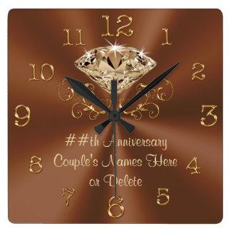 Horloges d'anniversaire personnalisées par
