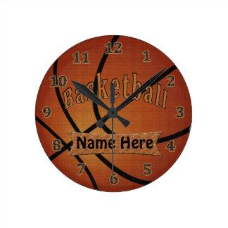 Horloges de basket-ball personnalisées par cru