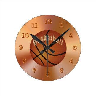 Horloges de basket-ball pour des décorations de ba