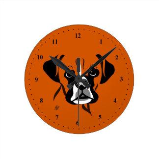 Horloges de chien de boxeur