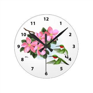 Horloges décoratives de colibri