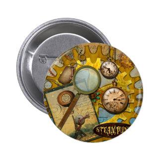 Horloges et temps de Steampunk Badge