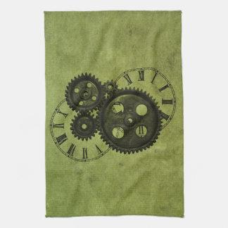 Horloges grunges et vitesses de Steampunk Linges De Cuisine