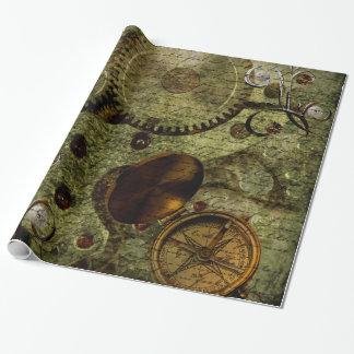 Horloges grunges et vitesses de Steampunk Papier Cadeau