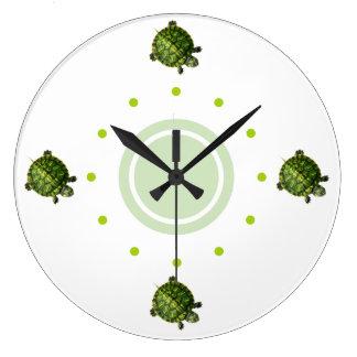 Horloges murales mignonnes de nature de tortue