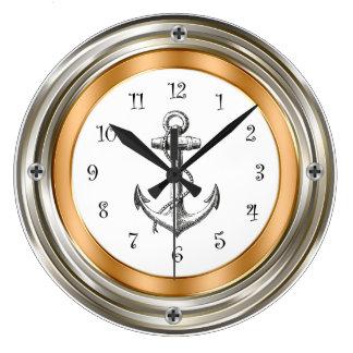Horloges murales nautiques de conception de hublot