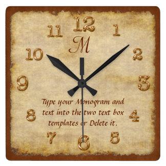 Horloges murales personnalisées VOTRE MONOGRAMME
