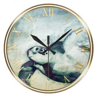 Horloges murales volantes de la tortue de mer