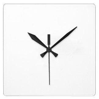 Horloges personnalisées carrées
