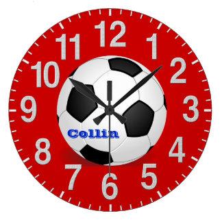 Horloges personnalisées du football avec des