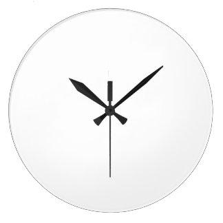 Horloges personnalisées rondes grand format