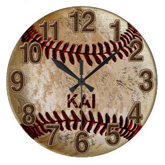 Horloges PERSONNALISÉES uniques sales de base-ball