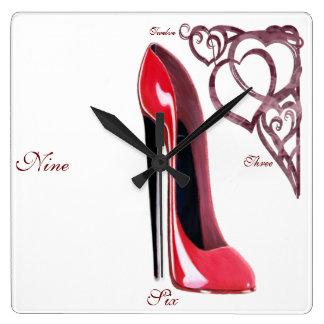 Horloges stylets d'art de chaussure