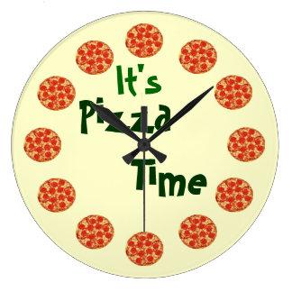 Horodateur de pizza grande horloge ronde