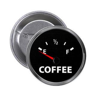Hors de la jauge de carburant de café badge