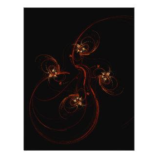 Hors de l'insecte foncé d'art abstrait prospectus 21,6 cm x 24,94 cm