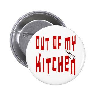 Hors de mon bouton drôle d'énonciation de cuisine badges avec agrafe