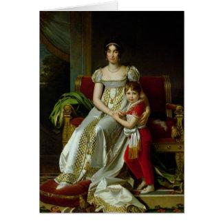 Hortense de Beauharnais et son fils Carte De Vœux