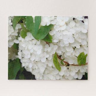 Hortensia blanc puzzle 16 x 20 par le jjhelene