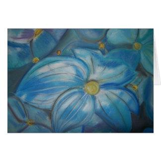 Hortensia bleu carte de vœux