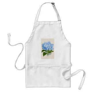 Hortensia bleu vintage tablier