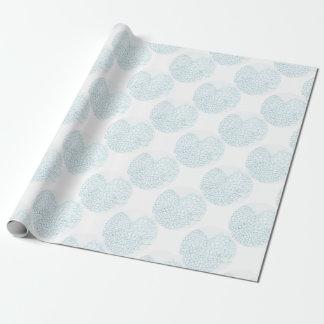 Hortensia de bleus layette papier cadeau
