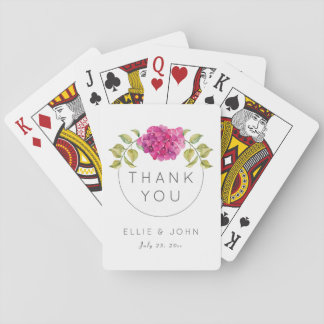 Hortensia de roses indien de faveur de mariage jeu de cartes