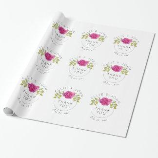 Hortensia de roses indien de faveur de mariage papier cadeau